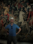 Me in front of the Unicorn Tapestries at The Cloisters NYC