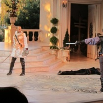 My most recent stage fight - June 2013, in pantaloons!