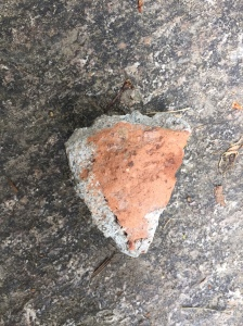 Mortar on brick